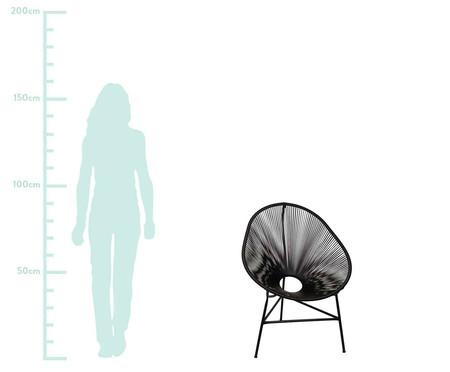 Conjunto de Cadeiras Acapulco Baka Preta - 02 Peças | WestwingNow