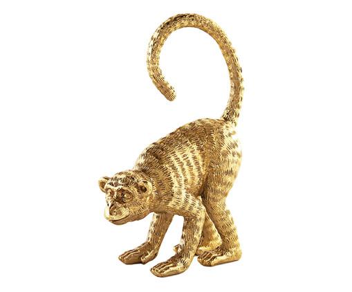 Escultura Macaco - Dourado, Dourado | WestwingNow