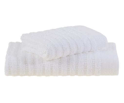 Jogo de Toalhas Organic Duo - Branco, Branco | WestwingNow