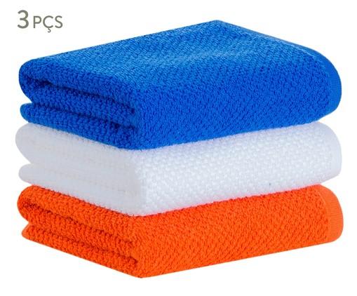 Jogo de Toalhas Quadri - Laranja e Azul, Laranja e Azul | WestwingNow