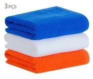 Jogo de Panos para Copa Quadri - Laranja e Azul | WestwingNow