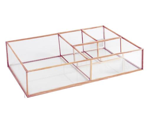 Porta-Objetos Dina - Acobreado e Transparente, Transparente, Rosé   WestwingNow