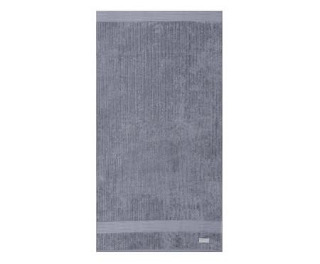 Jogo de Toalhas Canelado Gigante - Cinza | WestwingNow