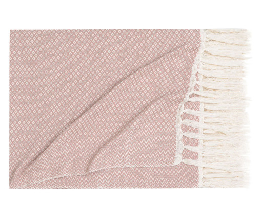 Manta Losango Compostos - Rosa Seco, Rosa Seco | WestwingNow