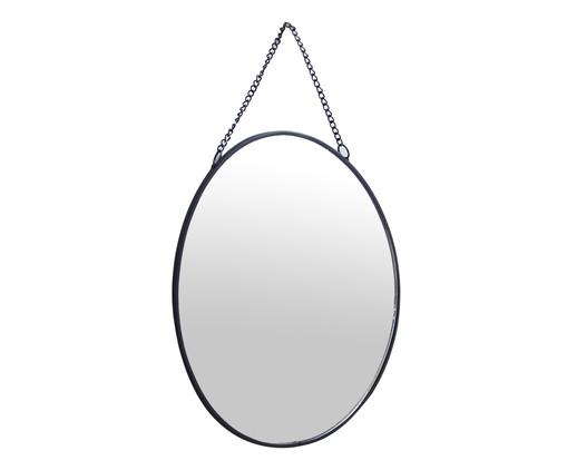 Espelho de Parede Redondo Sara - Preto, Preto, Espelhado | WestwingNow