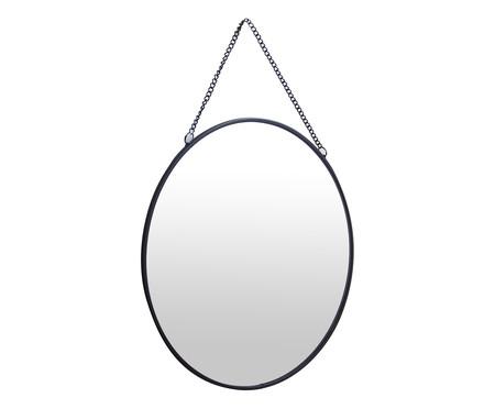Espelho de Parede Redondo Sara - Preto | WestwingNow