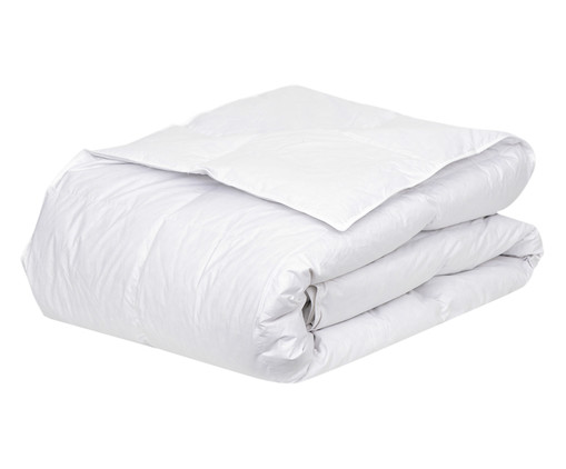 Edredom Rochelle com Pluma de Ganso 233 Fios - Branco, Branco, Colorido | WestwingNow