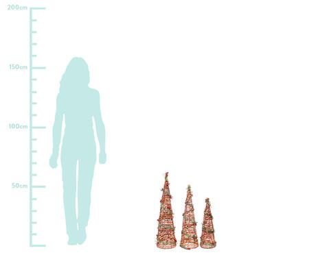 Jogo de Enfeites Cone Emmasnt - 16x60cm   WestwingNow