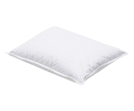 Travesseiro 100% Pluma de Ganso Baby Dina - Branco | WestwingNow