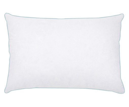 Travesseiro Julliete 100% Plumas de Ganso - Branco, Branco, Colorido | WestwingNow