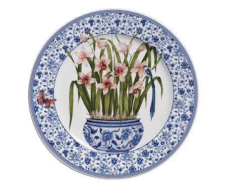 Jogo de Pratos para Sobremesa em Cerâmica Pot de Fleur 06 Pessoas - Colorido | WestwingNow