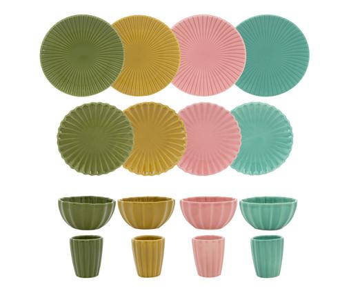 Jogo de Jantar em Cerâmica Vitória-Régia 04 pessoas - Colorido, Colorido   WestwingNow