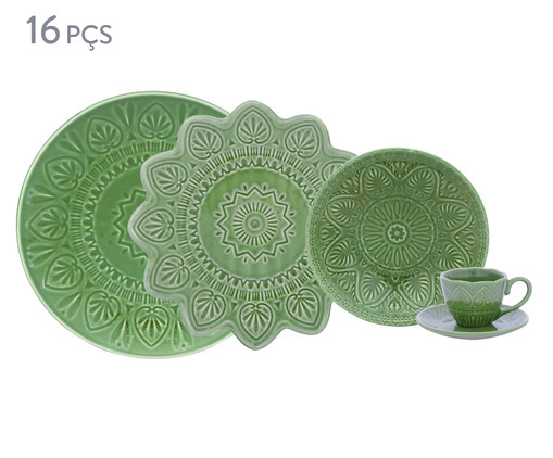 Jogo de Jantar Mandala Turca - Verde, Verde | WestwingNow
