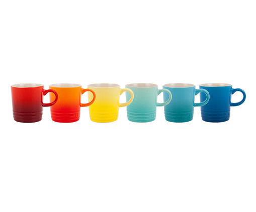Conjunto de Canecas Espresso em Cerâmica Sun Gift - 06 Pessoas, multicolorido | WestwingNow