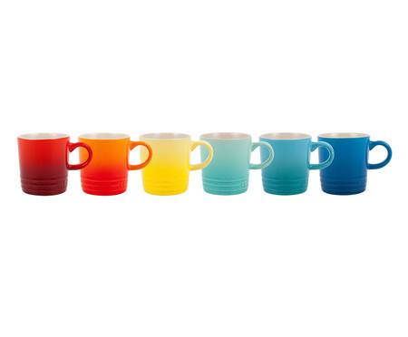 Jogo de Canecas Espresso em Cerâmica Sun Gift 06 Pessoas - Colorido | WestwingNow