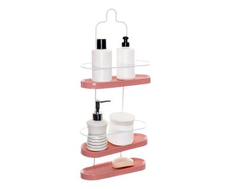 Porta Shampoo Wave Trio Trim  - Branco e Rosa | WestwingNow