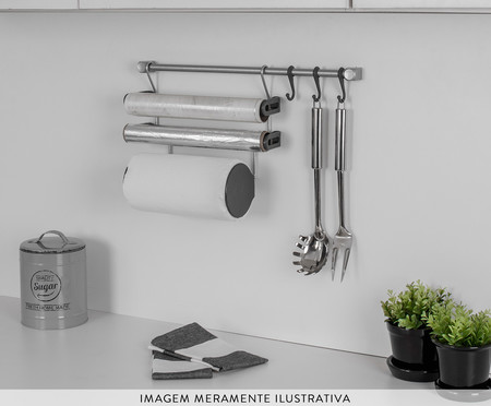 Jogo de Organizadores de Cozinha Requinte  - Cinza | WestwingNow