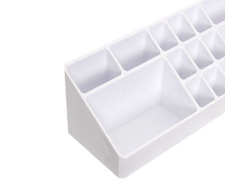Organizador de Maquiagem Box Branco - 33x9 cm | WestwingNow