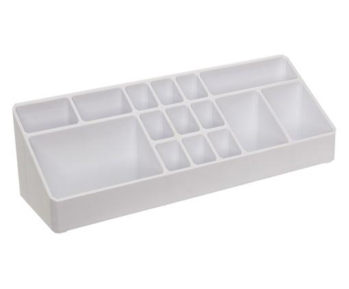 Organizador de Maquiagem Box Branco - 33x9 cm, Branco | WestwingNow