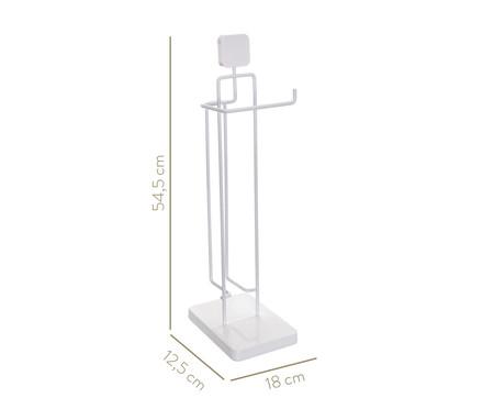 Porta Papel Higiênico com Reserva Simple - Branco | WestwingNow