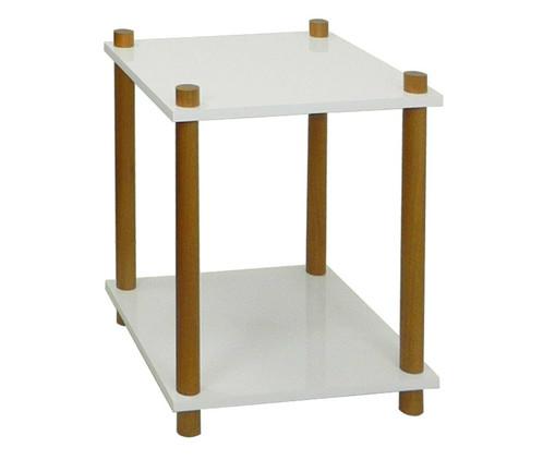 Mesa de Cabeceira Dena - Branca, Branco, Natural | WestwingNow