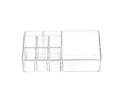Organizador de Maquiagem Box Transparente - 17,5x6,5 cm, Transparente | WestwingNow