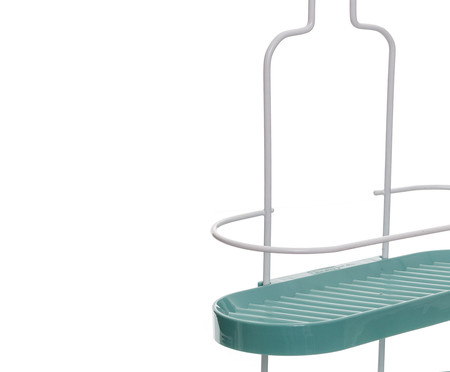 Porta-Shampoo Wave Duo Trim  - Branco e Verde | WestwingNow