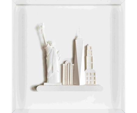Quadro Viagens New York 31x31 -  Leila Nishi | WestwingNow