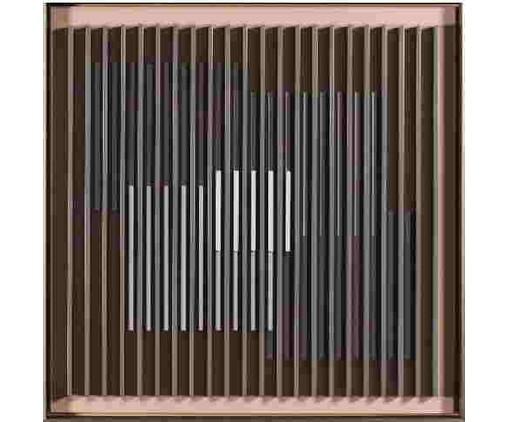 Quadro Linha Hide l 60x60 -  Bar Design, colorido | WestwingNow