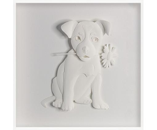 Quadro Estilo Dog 31x31 -  Leila Nishi, colorido   WestwingNow