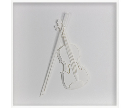 Quadro Estilo Violoncelo 31x31 -  Leila Nishi, colorido   WestwingNow