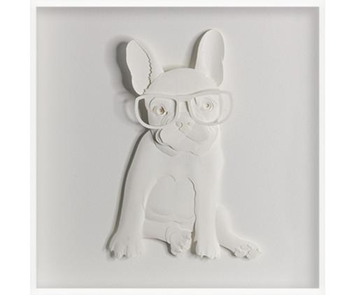 Quadro Viagens Bulldog 31x31 -  Leila Nishi, colorido | WestwingNow