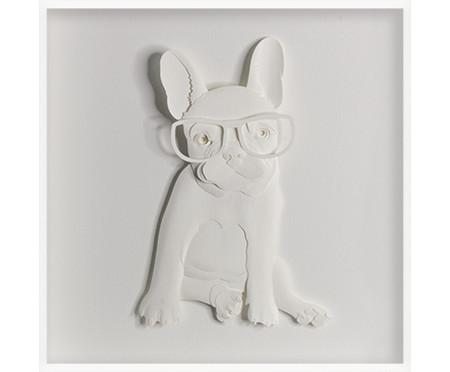 Quadro Viagens Bulldog 31x31 -  Leila Nishi | WestwingNow