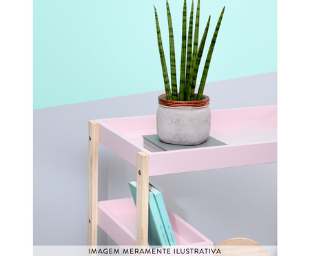 Mesa Lateral Mia - Cinza | WestwingNow