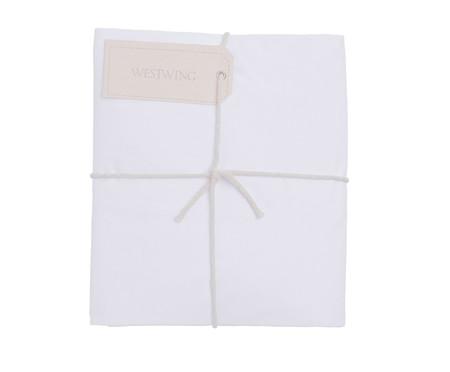 Lençol Inferior com Elástico Basic Branco - 200 Fios | WestwingNow