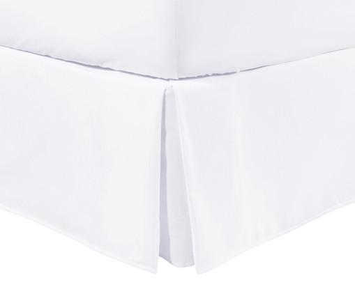 Saia para Cama Box com Babado Basic Branco - 200 Fios, Branco | WestwingNow