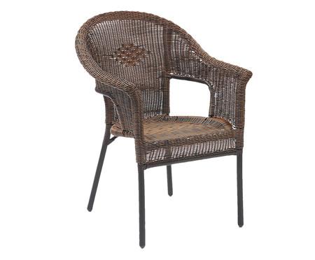 Cadeira Empilhável Fiore - Café | WestwingNow