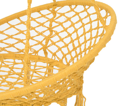 Poltrona Macramê Suspensa - Amarelo | WestwingNow