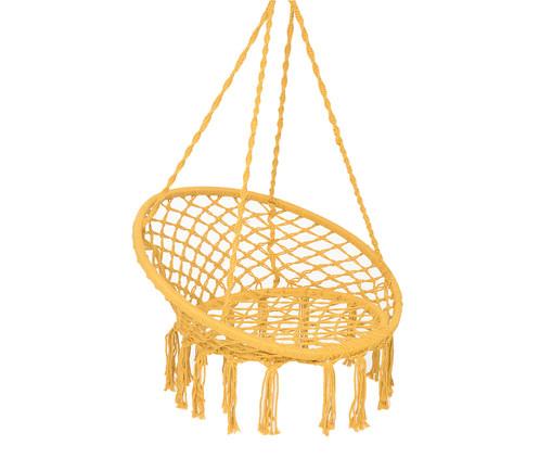 Poltrona Macramê Suspensa - Amarelo, amarelo   WestwingNow