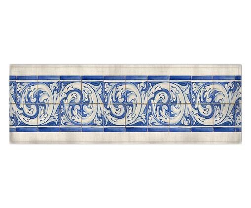 Caminho de Mesa em Algodão Carly - Estampado, Azul | WestwingNow