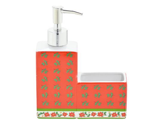 Dispenser Porta Esponja Natal Iara - Vermelho e Verde, Vermelho,Verde | WestwingNow
