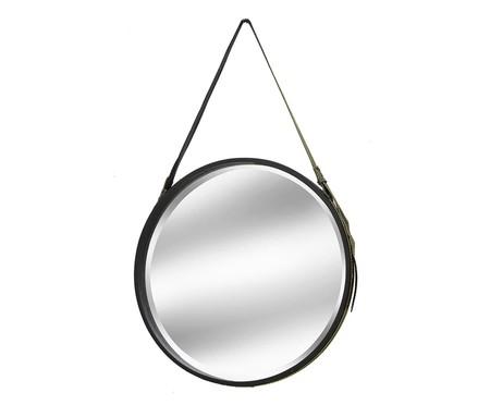 Espelho de Parede com Alça Iago - Dourado e Preto | WestwingNow