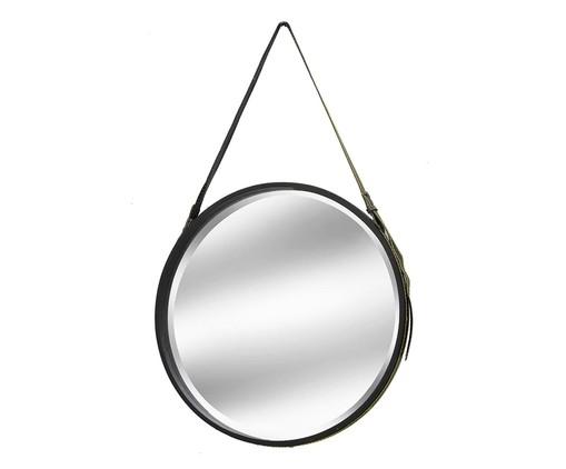 Espelho com Alça  Iago - Dourado e Preto, Dourado,Preto | WestwingNow