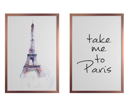 Jogo de Quadros Take Me To Paris, Preto, Branco | WestwingNow