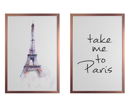 Jogo de Quadros Take Me To Paris | WestwingNow