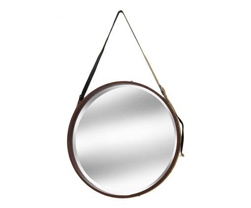 Espelho com Alça  Iago - Dourado e Marrom, Dourado,Marrom   WestwingNow