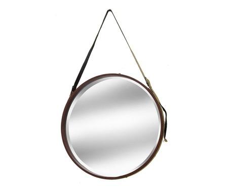 Espelho com Alça  Iago - Dourado e Marrom | WestwingNow
