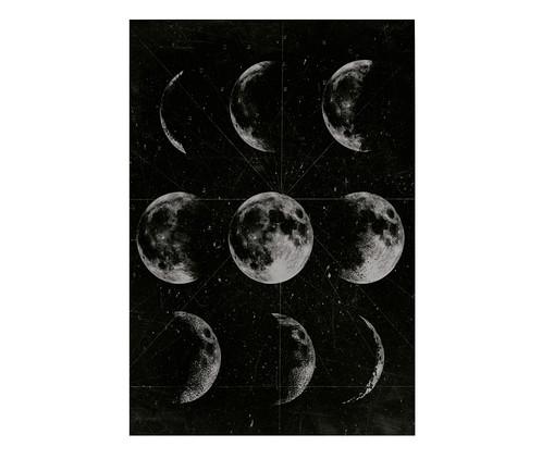 Placa de Madeira Estampada Fases da Lua, Preto, Branco | WestwingNow