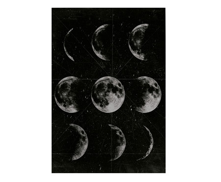Placa de Madeira Estampada Fases da Lua | WestwingNow