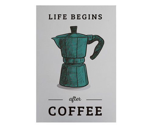 Placa de Madeira Estampada Life Begins After Coffe, Colorido | WestwingNow